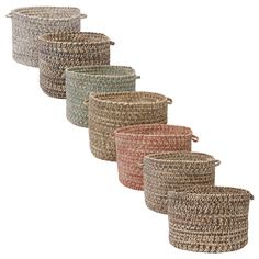 Featuring a palette of soft colors, this 18-inch braided basket makes a great storage container for blankets, books, and craft supplies. Complete with durable tweed construction and two easy-grip handles, this basket will prove to be invaluable.