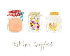 kitchen jars by Günseli S., via Flickr