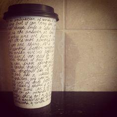 jack johnson lyrics coffee cup