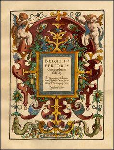 [Title Page] Belgii Inferioris Per Gerardum Mercatorem . . . - Barry Lawrence Ruderman Antique Maps Inc.