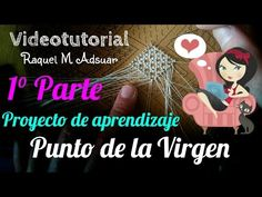 Punto de la virgen Bobbin Lace Patterns, Needle Lace, Lace Making, Tatting, Youtube, Crochet, How To Make, Bobbin Lace, Templates