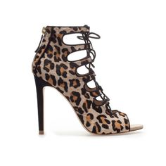 LEOPARD PRINT ANKLE BOOT SANDAL - Shoes - Woman - ZARA United States