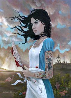 BetweenMirrors.com | Alt Art Gallery: Cate Rangel - Psychological Mirrors. A darker Alice