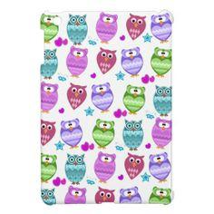 funky owls iPad mini case