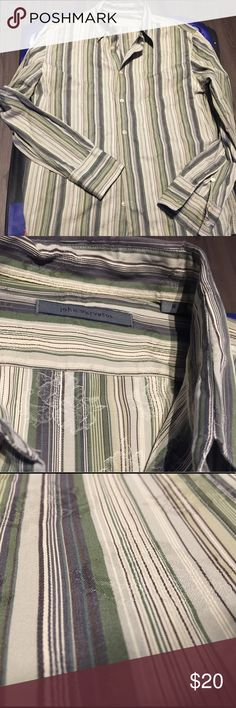 John Varvatos shirt casual and classy sz M There is a light shimmering almost invisible pattern over the stripes... really nice John Varvatos Shirts Casual Button Down Shirts