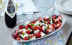 I Wasn't Expecting That...: Mozzarella, Strawberry And Olive Salad With Balsamic Glaze..