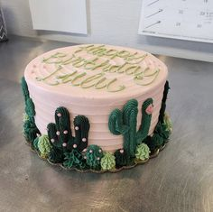 City Cakes & Cafe is a local Salt Lake hotspot. Locally owned and operated, we bring tasty vegan & gluten free treats to the Wasatch Front and beyond. Buttercream Birthday Cake, 17 Birthday Cake, Teen Birthday, Birthday Cookies, Fete Emma, Cactus Cake, Cactus Cupcakes, Bolos Naked Cake, Cake Vegan