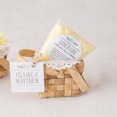 mini picnic basket wedding favor - Shop on WeddingWire!
