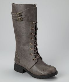 Take a look at this Gray Ella Boot by Tommy Hilfiger on #zulily today!