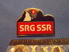 2016 Rio Olympic Media Pin SRG SSR Swiss Broadcasting Corporation