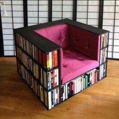 Boekenwurmen opgelet! 10 super originele ideetjes om jouw boeken in op te bergen! - Zelfmaak ideetjes