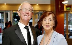 """RIP Irish actor Frank Kelly, who played Father Jack Hackett in Channel Four's """"Father Ted"""". Pictured with his wife, Bairbre"""