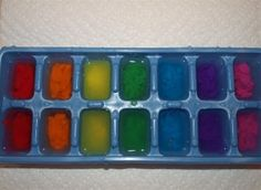 Rainbow ice painting