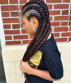 Beautiful Cornrows via @mahoganii_couture.thestylist - Black Hair Information Community