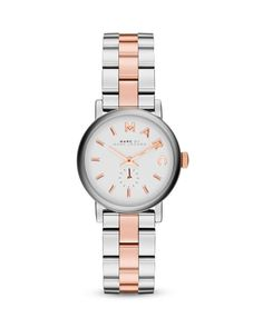 Marc By Marc Jacobs Two-Tone Baker Watch, 28mm