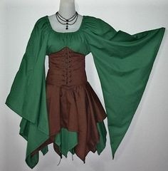 female fantasy larp costume | elf, change colours make shorter sleves