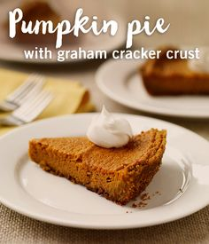 Classic pumpkin pie is the perfect way to end a meal during the holidays.