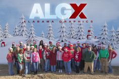 Happy holidays from your friends at Alabama Graphics! We hope you have a wonderful holiday weekend! We will be closed Monday, Dec. 26.
