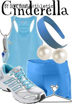 Cinderella! Perfect for someone running the Disney 1/2 marathon! Perhaps adding a light blue tutu will be icing on the cake!