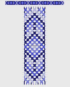 Friendship bracelet - Stuff☆彡 - Bracelets String Bracelet Patterns, Diy Bracelets Patterns, Diy Bracelets Easy, Embroidery Bracelets, Bracelet Crafts, Loom Bracelets, Macrame Bracelets, Macrame Jewelry, String Bracelet Designs
