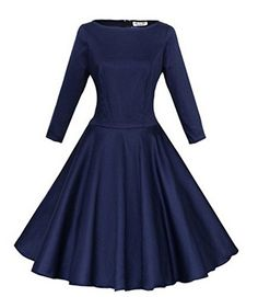 7660c315d975d2 Babyonline Vintage Fall Women Dresses for Formal Cocktail Party with Long  Sleeves List Price   59.99