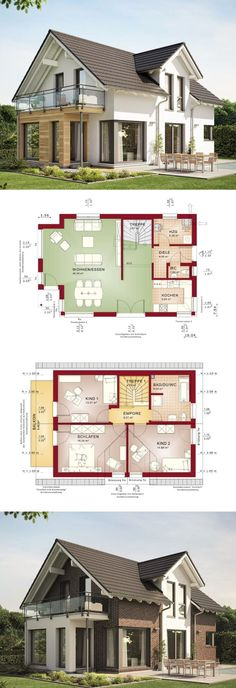 Modern Architecture Design Open Floor House Plan Evolution 122 V10 - Dream Home Ideas by Bien Zenker - HausbauDirekt.de - #home #house #houseplan #dreamhome #newhome #homedesign #houseideas #housegoals #construction #architecture #architect #arquitectura #hausbaudirekt