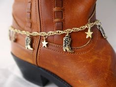 Cowboy boot bracelet Boots and stars bracelet Cowgirl boot