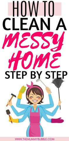 Is your messy home driving you crazy? You need this step by step guide to help you get going and clean your entire house. This will give you cleaning tips plus a checklist to help you tackle all the jobs that need doing to have a clean house House Cleaning Checklist, Diy Home Cleaning, Household Cleaning Tips, Spring Cleaning, Cleaning Hacks, Messy House, Cleaners Homemade, Natural Cleaning Products, Cleaning Solutions