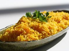 Saffron Rice ~ http://steamykitchen.com