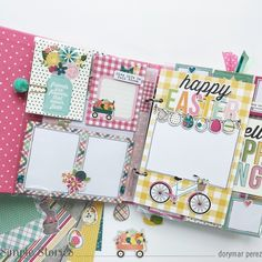 Hello Spring By Dorymar Perez! Scrapbook Sketches, Card Sketches, Scrapbooking Layouts, Kiwi Lane Designs, Happy Flowers, Bunch Of Flowers, Happy Birthday Images, Happy Birthday Greetings, Hip Hop Hooray