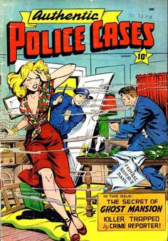 Authentic Police Cases, no. 8, August 1950; cover art by Matt Baker    (via Pencil Ink comic book artists blog: bronze silver golden age 1940s 1950s 1960s 1970s 1980s: Authentic Police Cases #8 - Matt Baker cover, mis-attributed Matt Baker art)