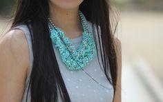 Ma Dernière Addiction: Shades of Blue - Vintage Turquoise Necklace