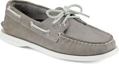 Sperry Authentic Original 2-Eye Boat Shoe Grey, Size 7M Women's Shoes Extended Black Friday