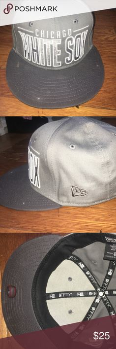 Grey White Sox SnapBack Hat In great condition, only worn twice, authentic MLB product MLB Accessories Hats