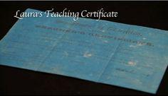 Laura's teaching certificate