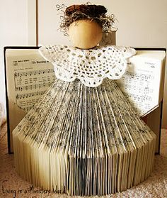 An angel made from a song book!
