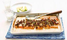 Uunilohi on suomalaisten suosikkiruoka, eikä syyttä. Cheesesteak, Quiche, Food And Drink, Fish, Breakfast, Ethnic Recipes, Koti, Morning Coffee, Pisces