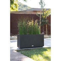 Cheap Landscaping Ideas, Fence Landscaping, Modern Landscaping, Modern Planters, Outdoor Planters, Outdoor Lighting Landscape, Rooftop Patio, Backyard Patio, Corten Steel Planters