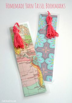 Easy Homemade Tassel Bookmarks | Club Chica Circle - where crafty is contagious