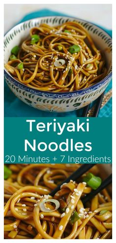 Teriyaki Noodles – Mildly Meandering Teriyaki Noodles – A quick and easy meal ready in just 20 minutes! Asian noodles topped with a delicious and simple homemade teriyaki sauce! Teriyaki Noodles, Sauce Teriyaki, Asian Noodles, Recipes With Teriyaki Sauce, Hibachi Noodles, Beef Recipes, Vegetarian Recipes, Chicken Recipes, Cooking Recipes