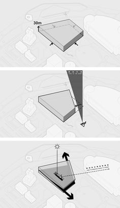 OPEN, SANAA, Jean Nouvel & David Chipperfield Shortlisted in Competition for Pudong Art Museum in Shanghai,Diagram: volume generated