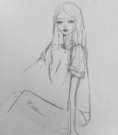 Instead of sleeping, dessin, illustration, drawing