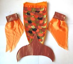 child's fish costume | The flipper cuffs were simple to sew together after all of that. I ...