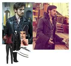 """Killian Jones/Hook"" by youngvolcanoes2002 on Polyvore featuring Once Upon a Time, rag & bone, Excelled, JustFab and Essie"