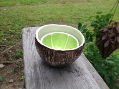 Lime & Coconut Bowl pair by vegetabowls on Etsy
