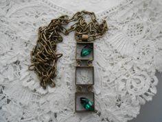 Rhinestone necklace 1960's by Nkempantiques on Etsy, €6.00