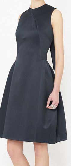 navy flare dress / love the neck line