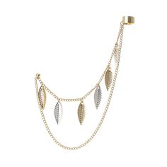 Ear Cuff with Single Stud Leaf Chain, all, Jewellery, Earrings, Ear Cuffs, Trends, Into The Woods, What's Hot Fashion trends, accessories and jewellery for young women