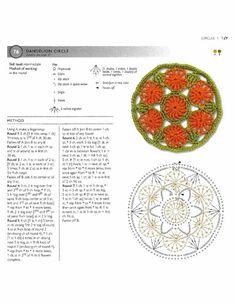 ru / Фото - 75 Floral Blocks to Crochet - nezabud-ka Crochet Circles, Crochet Round, Diy Crochet, Crochet Doilies, Crochet Flowers, Crochet Motif Patterns, Crochet Blocks, Square Patterns, Crochet Basics