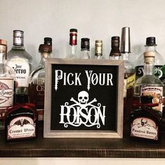 Pick Your Poison Halloween Sign Halloween Party Decor | Etsy